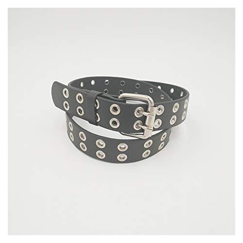 FUBINMY Ladies Belt Fashion Children Kids Solid Color Belt Unisex Hollow Out Small Holes Belts Boys Girls Faux Pants Belt Adjustable (Belt Length : 90cm, Color : Black)