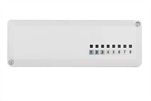 Logafix Regelklemmleiste 230V 8 Anschlüsse, IP21, weiß, Montagezubehör