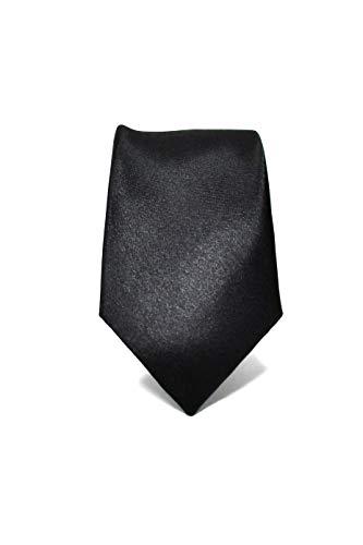 Oxford Collection Corbata de hombre Negro Delgada - 100% Seda - Estrecha, Elegante y Moderna - (ideal para un regalo, una boda, con un traje, en la oficina.)