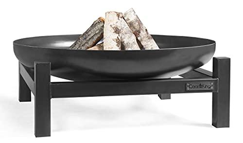 Cookking Panama - Brasero redondo rústico para jardín y terraza, alta seguridad, acero, negro, 29 x 70 x 70 cm
