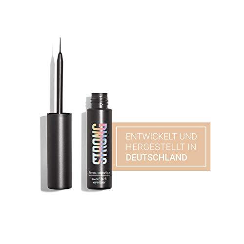 STRONG cosmetics® – Liquid Eyeliner, Farbe: Schwarz I Sweatproof & Waterproof Eyeliner I...