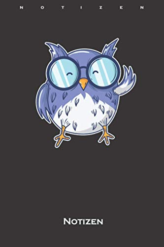 Vogel mit runder Brille als kleiner Nerd Notizbuch: Liniertes Notizbuch für alle Nerds, Chippies und Computerfreaks
