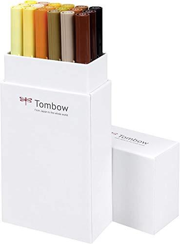TOMBOW Dual Brush Pen ABT, 18-colours-set, earth colours