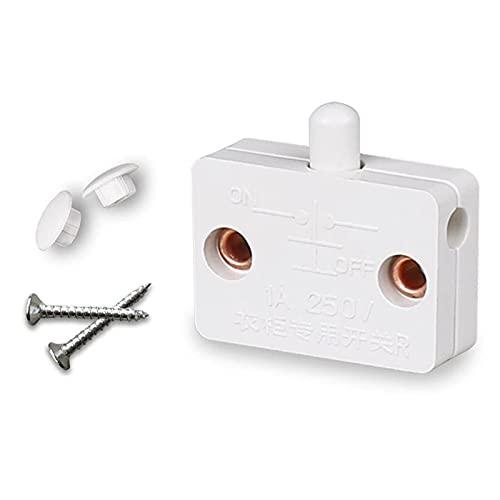 Ymxcwer85851 Schrankschrank Lichtschalter Automatischer Reset-Schalter Haushaltsschrankschalter (Weiß)