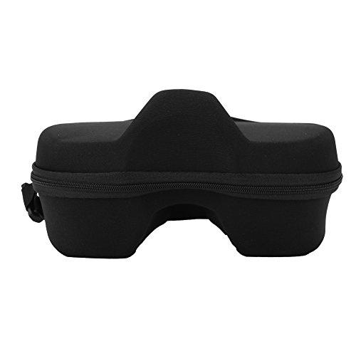 Caja de almacenamiento de máscara de buceo protectora, caja de máscara Microfibra de snorkel para GOPRO/YI/SJCAM / SJ4000 Mascarillas de buceo (Negro)