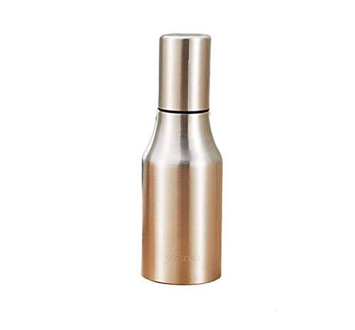 AOIWE Tarros de especias 304 de acero inoxidable para cocina, a prueba de fugas, botella de salsa de soja, botellas de condimentos, suministros de cocina, varios tamaños (color: plata, tamaño: 500 ml)