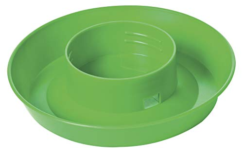 Little Giant Screw-On Poultry Waterer Base (1 Quart) Heavy Duty Plastic Water Tray Base for Container (Lime Green) (Item No. 740LIMEGREEN)