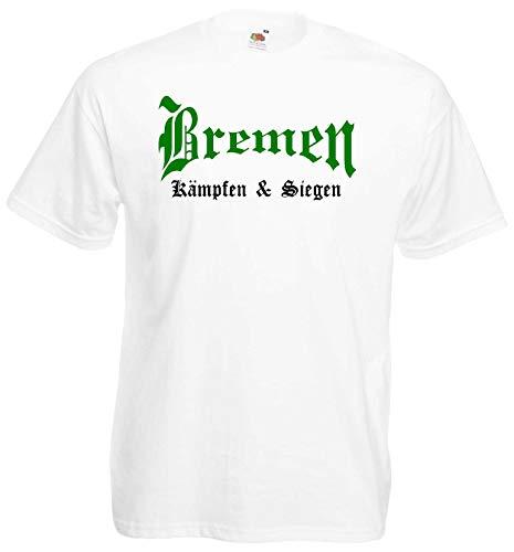 World of Shirt Herren T-Shirt Bremen kämpfen und Siegen