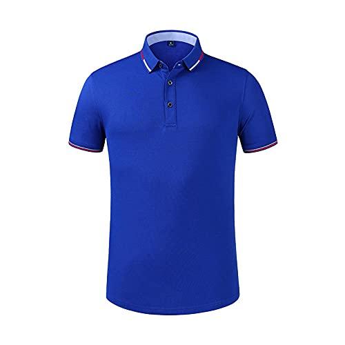 DamaiOpeningcs Top de yoga con transpirable de secado rápido, ropa de trabajo uniforme camiseta de solapa polo manga corta azul M