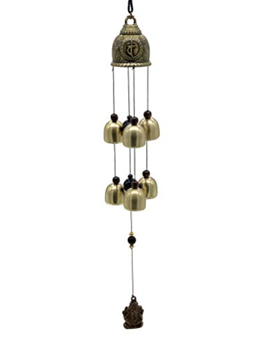 Buddha Bell Amulet Wind Chime Wealth Luck Ganesh Amulet Six Bells