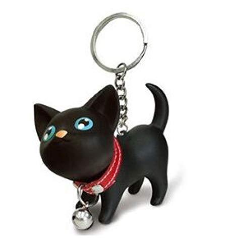 yqs Llavero Llavero Lucky Cat para Damas Nuevas Dibujos Animados Mujeres Gato llaveros Encanto Bolsa Accesorios Colgante Regalo para Las Mujeres llaveros de Coche Nuevo Black
