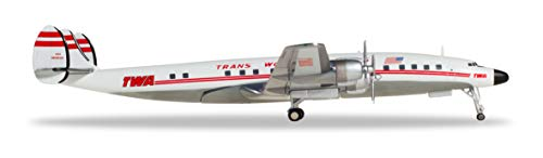 herpa 558372-001 TWA-Trans World Airlines Lockheed, Wings/Flugzeug zum Sammeln, Mehrfarbig