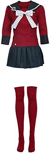 YBINGA Disfraz de Harukawa Maki para mujer, vestido de anime marinero, uniforme escolar japonés para niña, accesorios de cosplay (color rojo, tamaño: XXL)