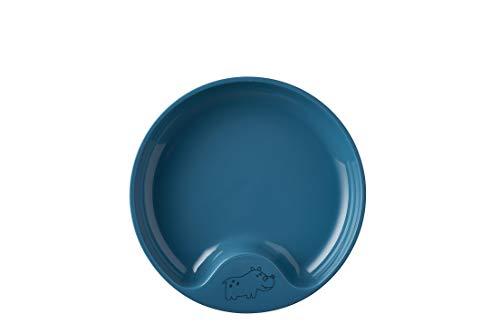 Mepal Mio – Plato de aprendizaje – Azul profundo – Plato antideslizante – Plato para bebé – Apto para microondas – Apto para lavavajillas