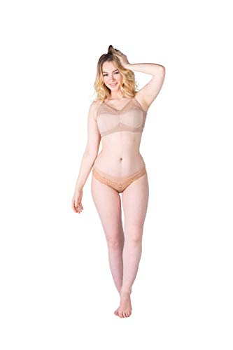 Abergele Minimizer Bra 4003 Comfortable Underwire Support, Extra Soft Minimizing Bras, Look Great Every Time (36B) Nude
