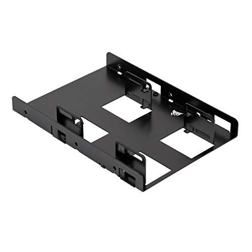 Corsair SSD Einbaurahmen (Dual Laufwerk, geeignet für 2 x SSD 6,4 cm (2,5 Zoll) auf 8,9 cm (3,5 Zoll)) schwarz (CSSD-BRKT2)