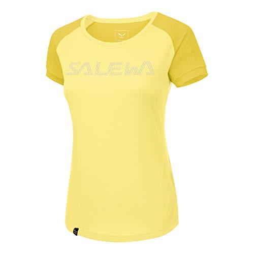 Salewa pedroc Delta Dry W S/S Tee, T-Shirt Femme, Femme, Pedroc Delta Dry W S/S Tee, Limelight/5736, 40/34