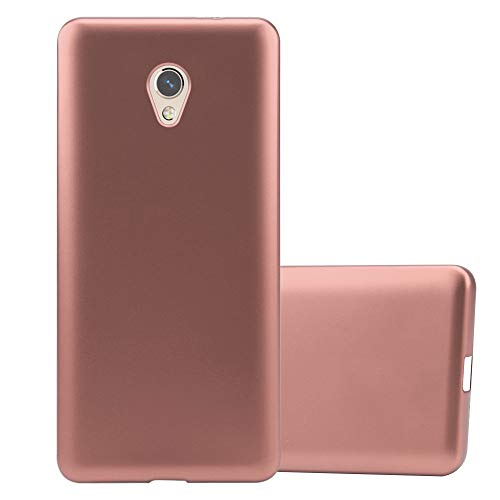 Cadorabo Hülle für ZTE Blade V7 in METALLIC ROSÉ Gold - Handyhülle aus flexiblem TPU Silikon - Silikonhülle Schutzhülle Ultra Slim Soft Back Cover Case Bumper