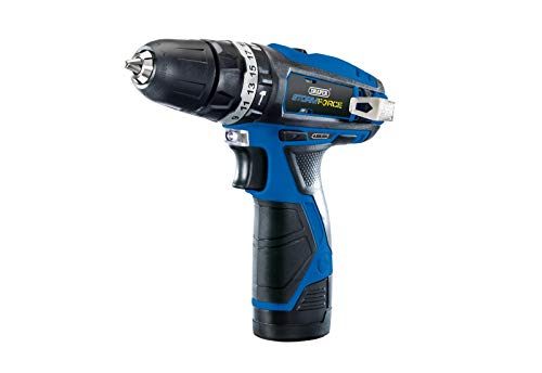 Draper DRA52046 Storm Force Interchange Super Deal Drill Plus 3 Batteries and Bag, 10.8 V, Blue