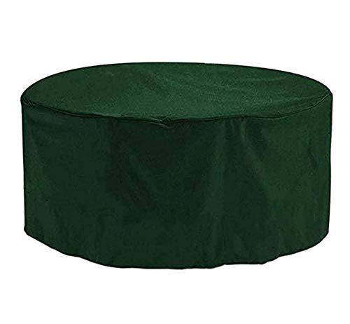 BBMMCLL Funda Protectoras Muebles Jardin, 210D Paño Oxford Funda Protectora para Mesa de Comedor Redonda Impermeable a Prueba de Viento Cubierta de Mesa de jardín-128x71cm