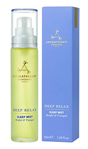 Aromatherapy Associates Deep Relax Sleep Mist, 1.69floz. Our Highly Efficacious, Hand-Crafted Blend includes Grounding Vetiver, Soothing Camomile and Relaxing Sandalwood Pure Essential Oils