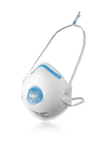 Dräger X-plore 1320 V | 10x mascarilla respiratoria protección FFP2 | Semimáscara con válvula Antipolvo, partículas y Aerosoles