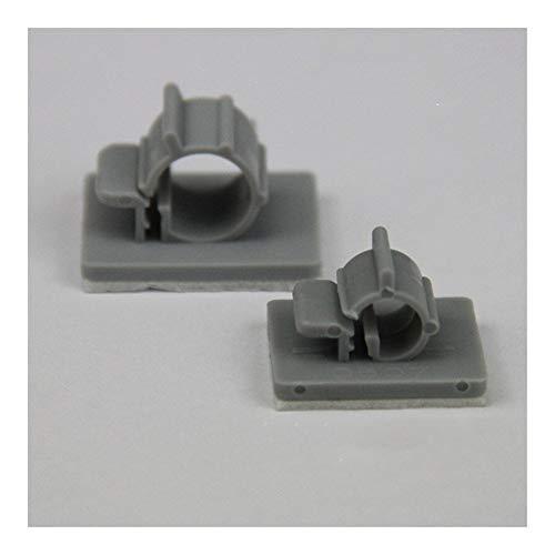 Tubo plastico 20pcs Purificadores de Agua Accesorios 1/4' 3/8' CCK abrazadera de tubo de manguera respaldo fijo barra de pegamento (Color : 1l4inch, Size : 20pcs)