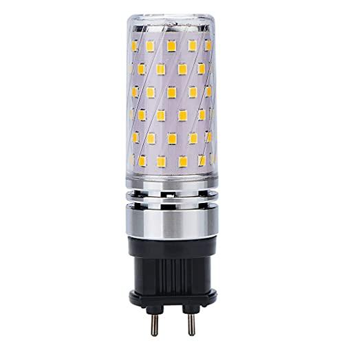 Bombilla de maíz LED G12 10W 1000LM reemplazo equivalente 75W lámpara halógena Lámpara G12 Ángulo de haz de 360 grados (Warm White)
