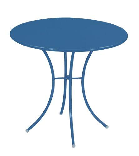 Emu 309066100 Pigalle Tisch 906, ø 80 cm, pulverbeschichteter Stahl, petrolblau