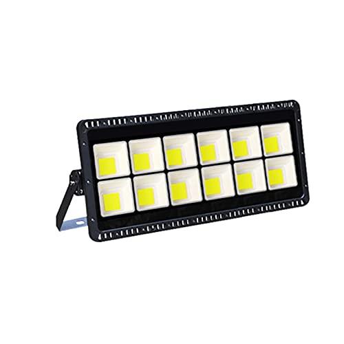 Foco Proyector LED 200W 300W400W 500W 600W,Floodlight Led Blanco Cálido Impermeable Y Superbrillante,Luz De Trabajo De Alto Brillo Para Plaza De Garaje De Jardín(Size:600W,Color:Blanco cálido)