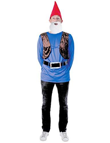 Party Pro–865156–Kostüm–Set Gartenzwerg, Größe M/L