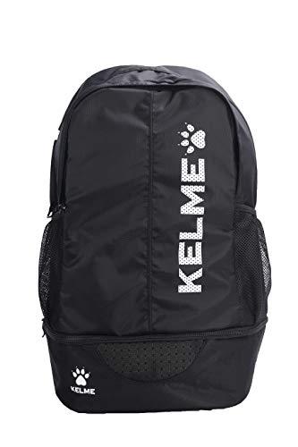 Sports Backpack - Adults, Kids – School,Soccer,Basketball - Ball Holder Pocket (Black/White, Adults)