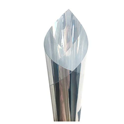 Harddo - Lámina reflectante para ventanas (protección térmica, tintado de cristal, aislamiento solar, ventana espejada), vinilo, plata, 50CM*200cm