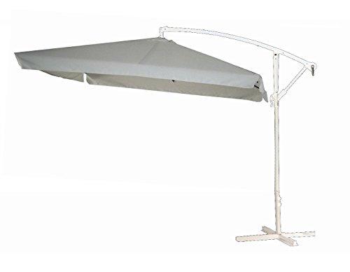 Dimaplast2000 AMZ025 Ombrellone ad Arco,Bianco/Bianco 2.5 x 2.5 m
