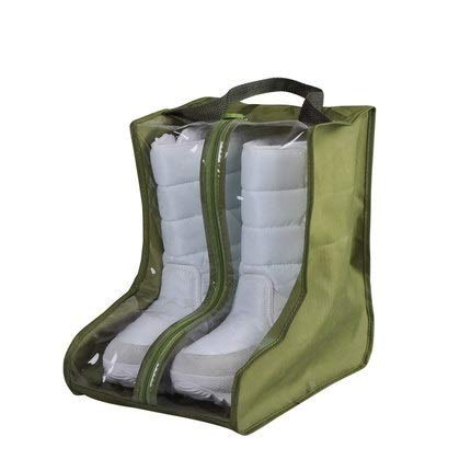 FEIYI Bolsa impermeable para zapatos de viaje, portátil, bolsa de almacenamiento para botas cortas, bolsillo para el hogar, a prueba de polvo, organizador para zapatos (color: verde militar)