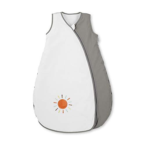 Sterntaler Sommer-Schlafsack für Kleinkinder, Reißverschluss, Größe: 110, Waldis, Weiß/Grau