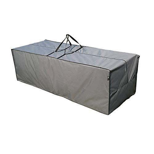 SORARA Sac de Rangement Hydrofuge pour Coussins Salon de Jardin | Gris | 200 x 75 x 60 cm