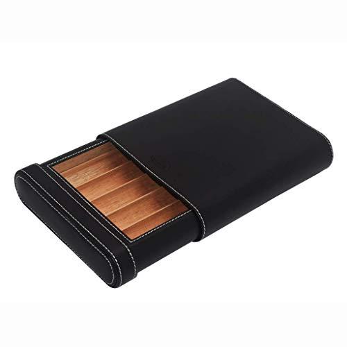 Zigarettenetui reisen tragbare zigar holzfutter leder oberfläche reise zigarett humidor kompakte männer geschenkbox kanal 5 zigarren black ble für das büro neue klassische tragbare zigarrenbefeuchter