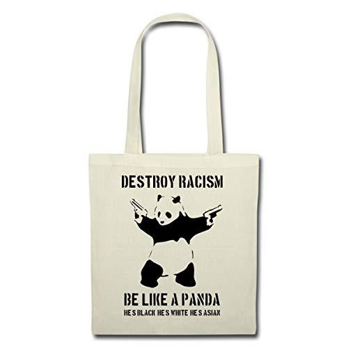 Destroy Racism Be Like A Panda Gegen Rechts Stoffbeutel, Natur