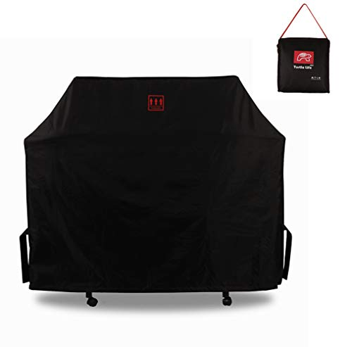 Turtle Life Grill Cover Gas Smoker BBQ Patio Weatherproof Sturdy Durable Grill Griddle Accessories with Upgrade Air Vent Black 64in Covers Grill