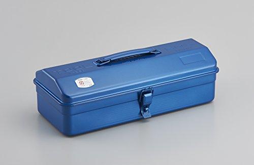 TOYO スチール製 山型工具箱 Y-350<グッドデザイン・ロングライフデザイン賞受賞> (青)