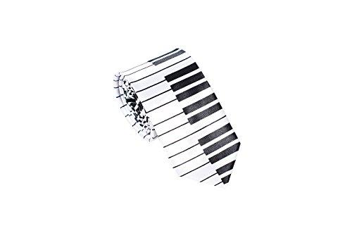 MATCH MUCH Skinny Neckties Novelty Ties(Keyboard White)
