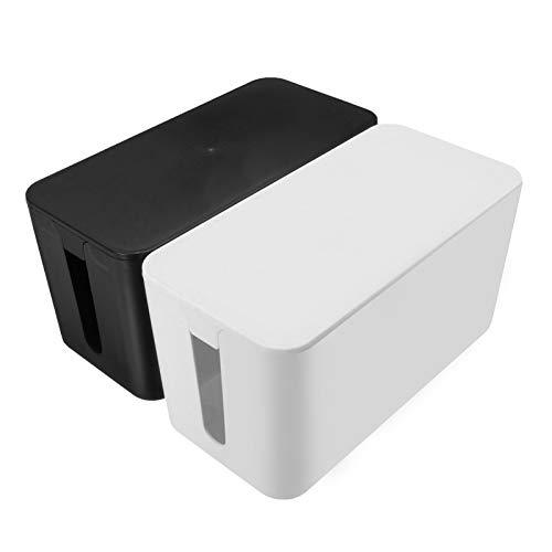 MAOXI 1 STK. Kabel Ordentlich Aufbewahrungsbox Sicherheit Netzkabel Buchse Fall Organizer Home Office Kabel Management Box
