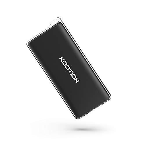 KOOTION Portable SSD Drive USB C Ultra-Light 120Go Disque Dur SSD Externe USB 3.1 Gen 2 Type C Mini SSD avec Cadre de câble de Type A à C avec Boucle pour Le Transport de la lanière