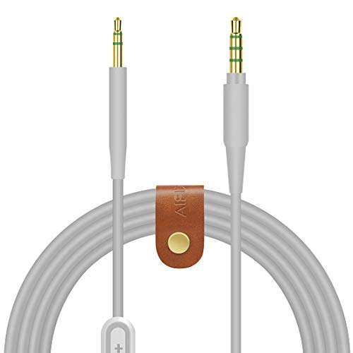 Geekria QuickFit Replacement Audio Cable for Bose Noise Cancelling Headphones 700, NCH700-2.5mm to 3.5mm Male Stereo Cord with Mic and Volume Control(5.5FT Gray)