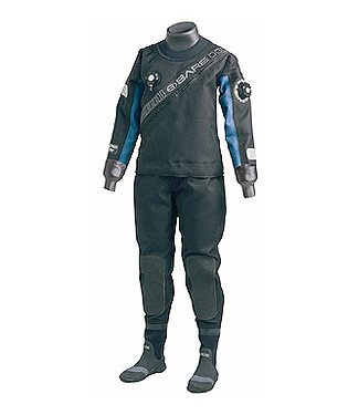 Bare Trilam HD Tech Scuba Diving DrySuit with Dry Suit, Large/Tall