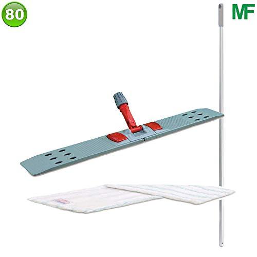 """Bodenwischer-Set mit 1 Wischmopp Mikrofaser \""""Premium\"""" 80 cm"""