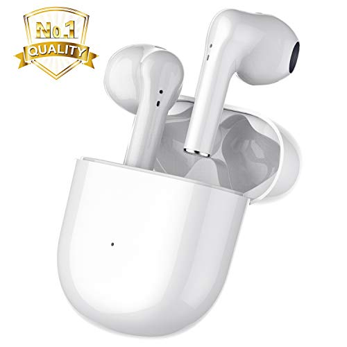 Wireless Earbuds Bluetooth 5.0 Headphones Built in Mic Noise Cancelling Headsets 3D Stereo in-Ear Buds Wireless Headphones IPX5 Waterproof Earbuds for Apple Airpods Earbuds/iPhone/Andriod