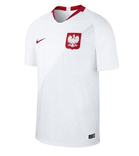 Nike Kinder Poland Home Stadium T-Shirt, White/Sport Red, L