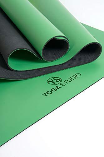 Yoga Studio Esterilla de viaje unisex YS/Grip/4 mm/Green Grip Green, 68 cm x 183 cm, base antideslizante para yoga, absorbe la humedad de 4 mm de grosor, sin látex, rollo normal